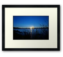 Sunset in Scotland Framed Print