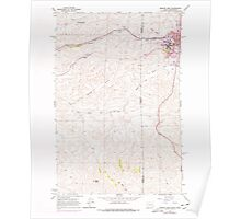 USGS Topo Map Indiana ID Moscow West 237268 1964 24000 Poster