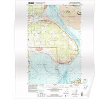 USGS Topo Map Washington State WA Crescent Harbor 240735 1998 24000 Poster