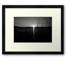 Black and White Scottish Sunset Framed Print