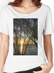 Golden Willow Sunrise Women's Relaxed Fit T-Shirt