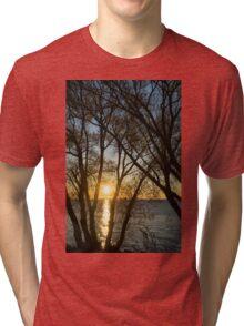 Golden Willow Sunrise Tri-blend T-Shirt