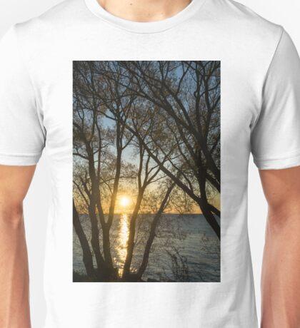 Golden Willow Sunrise Unisex T-Shirt