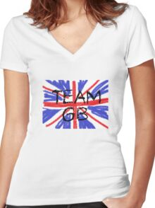 TEAM GB Women's Fitted V-Neck T-Shirt