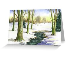 RIVER THE GEUL IN  SOUTH LIMBURG Greeting Card