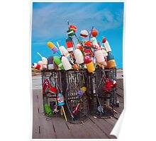 Buoys And Pots Poster