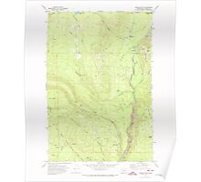 USGS Topo Map Washington State WA Jungle Butte 241708 1970 24000 Poster
