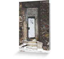 One White Door Greeting Card