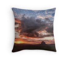 Glass House Sunset Throw Pillow
