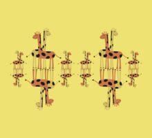 Children's Giraffes Mirror Image T-Shirt Kids Tee