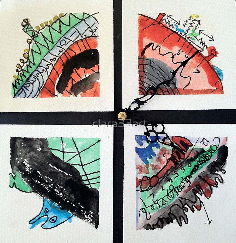Dali Time by 7 years old Justin M. by clara33art