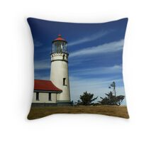 Cape Blanco Lighthouse Throw Pillow