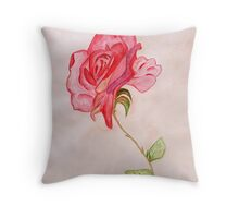 A Blooming Rose Throw Pillow