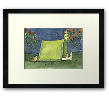 Sleeping under the stars. Framed Print