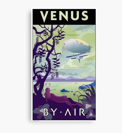 Venus By Air Travel Poster Canvas Print