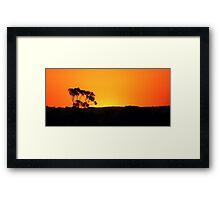 Striking Sunset Framed Print