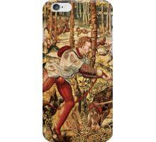 Pastel Brown Tones Hunt Scene-From Maximilian's Tapestry Series iPhone Case/Skin