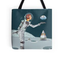 Moon Travel Poster Tote Bag