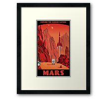 Mars Travel Poster Framed Print