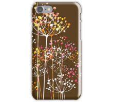 Cute Retro Pastel Tones Floral Design iPhone Case/Skin