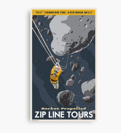 Asteroids Travel Poster Canvas Print