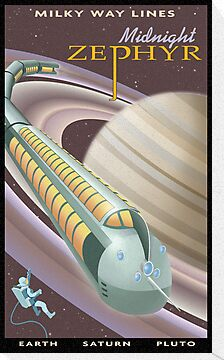 Saturn Travel Poster by stevethomasart