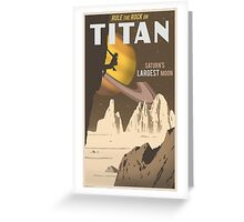 Titan Travel Poster Greeting Card