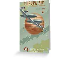 Jupiter Travel Poster Greeting Card