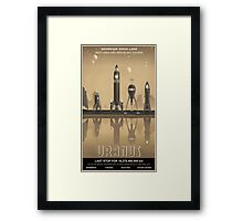 Uranus Travel Poster Framed Print