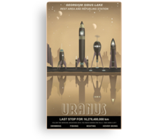 Uranus Travel Poster Canvas Print