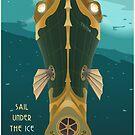 Neptune Travel Poster by stevethomasart