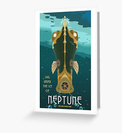 Neptune Travel Poster Greeting Card