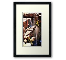 Rock Waterfalls  Western Australia Framed Print
