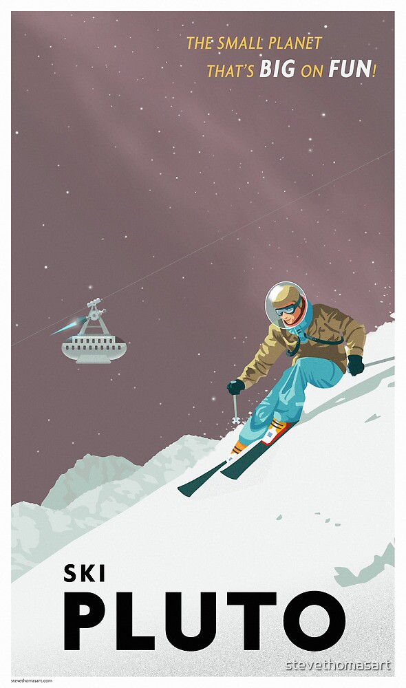 Pluto Travel Poster by stevethomasart