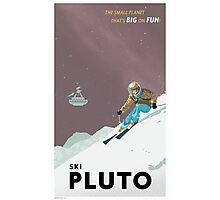 Pluto Travel Poster Photographic Print
