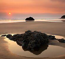 Hazy Oregon sunset by DawsonImages
