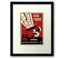 Avoid Downloads Framed Print