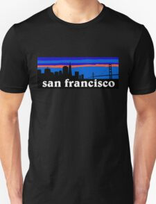 San Francisco - California. Awesome sunset skyline T-Shirt