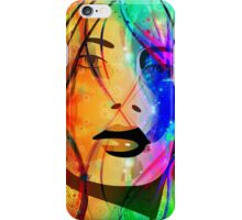 Colorful Abstract Girl Portrait iPhone Case/Skin