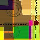Geometric Abstract Original Digital Art by artonwear