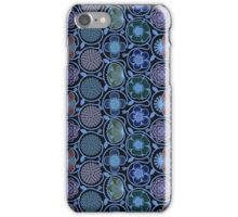 Pastel Blue Abstract Retro Floral Pattern iPhone Case/Skin