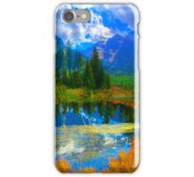 Photo Montage-Mountain Lake Landscape iPhone Case/Skin