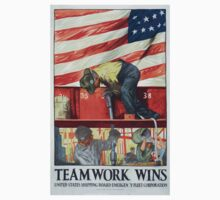 Teamwork wins United States Shipping Board Emergency Fleet Corporation One Piece - Short Sleeve