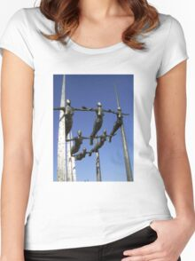 'Formation'  by Rick Kirby - Ipswich, Suffolk Women's Fitted Scoop T-Shirt