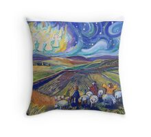 Angels by Night Throw Pillow