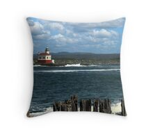 Coquille River Lighthouse Throw Pillow