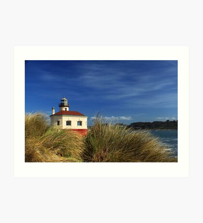 Bandon Coquille River Lighthouse Art Print