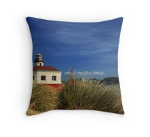 Bandon Coquille River Lighthouse Throw Pillow