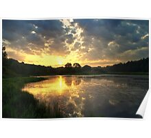 Sunrise over Lackawanna Lake Poster