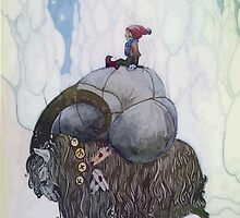 Jullbocken The Yule Goat Being Ridden By A Child by taiche